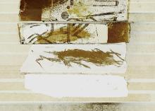 Untitled 1991, mixed media on paper, 31 x 26 cm