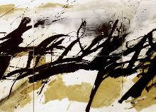 Untitled   1987  acrylic, ink on cardboard,  300x140 cm